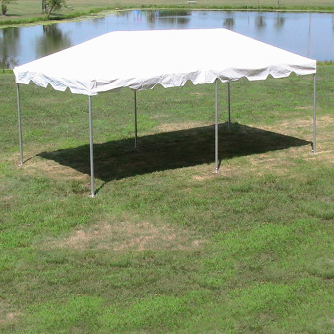 10 x 20 classic series frame tent 1 piece tent top complete