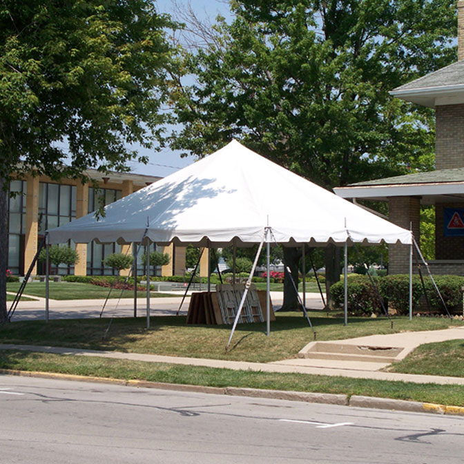 20' x 20' One Piece Classic Series Pole Tent