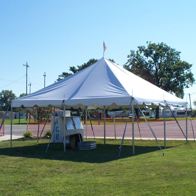 20u0027 x 20u0027 Classic Series Pole Tent 1 Piece Tent Top Complete & 20u0027 x 20u0027 One Piece Classic Series Pole Tent