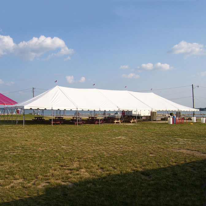 40u0027 x 100u0027 Classic Series Pole Tent Sectional Tent Top Complete & Classic Series Pole Tent - 40 x 100