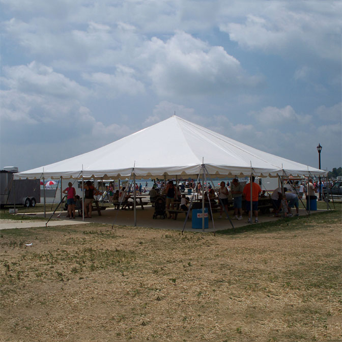 40u0027 x 40u0027 Classic Series Pole Tent Sectional Tent Top Complete & Classic Series Pole Tent - 40 x 40