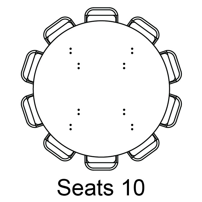 round tables seating