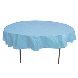72'' Round Heavy Duty Plastic Table Covers