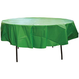 84'' Round Heavy Duty Plastic Table Covers