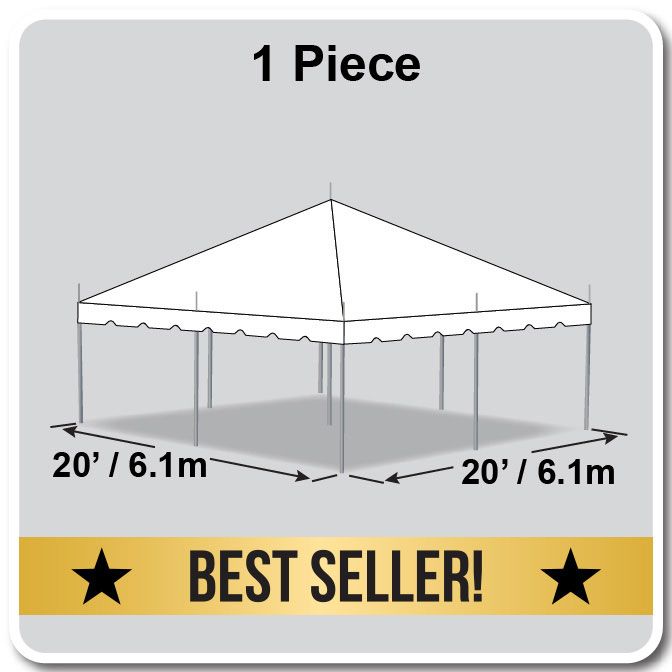 Presto Series Pole Canopy 1 Piece Tent Top Complete