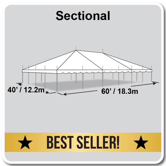 classic series pole tent 40 x 60. Black Bedroom Furniture Sets. Home Design Ideas