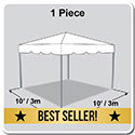 10' x 10' Classic Series Frame Tent, 1 Piece Tent Top, Complete