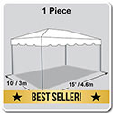 10' x 15' Classic Series Frame Tent, 1 Piece Tent Top, Complete