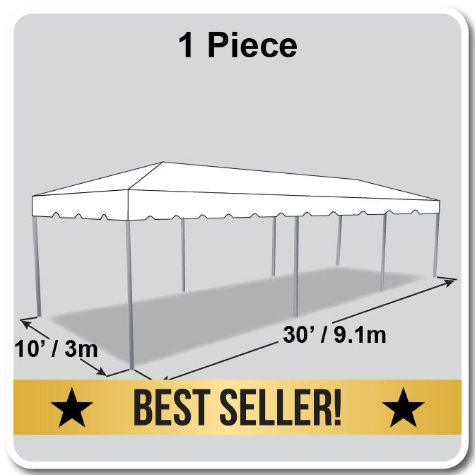 10\' x 30\' One Piece Classic Series Frame Tent