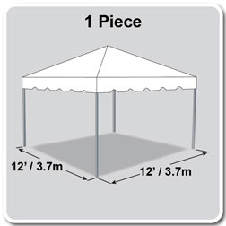 12' x 12' Classic Series Frame Tent, 1 Piece Tent Top, Complete