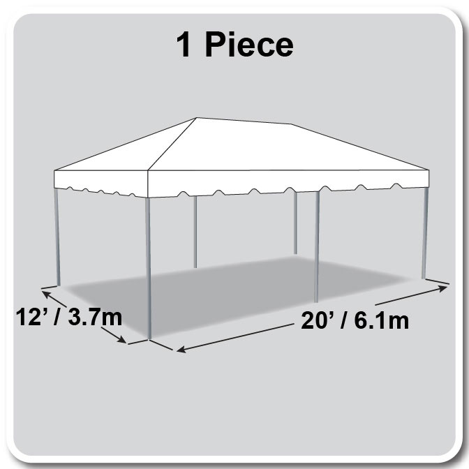 12\' x 20\' One Piece Classic Series Frame Tent