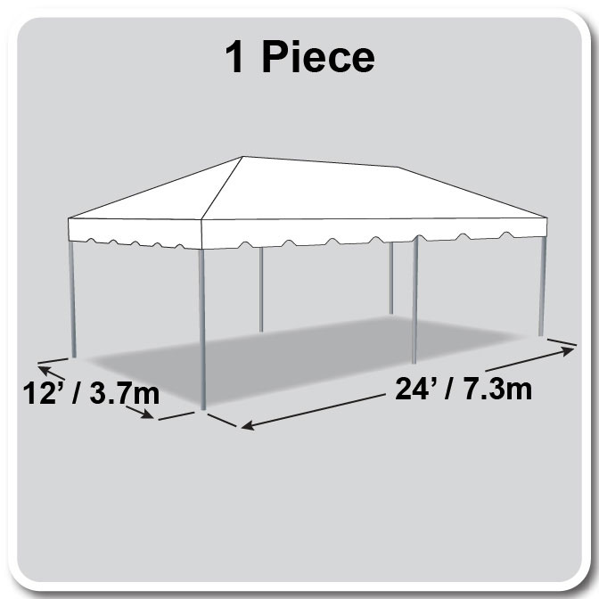 12 x 24 one piece classic series frame tent