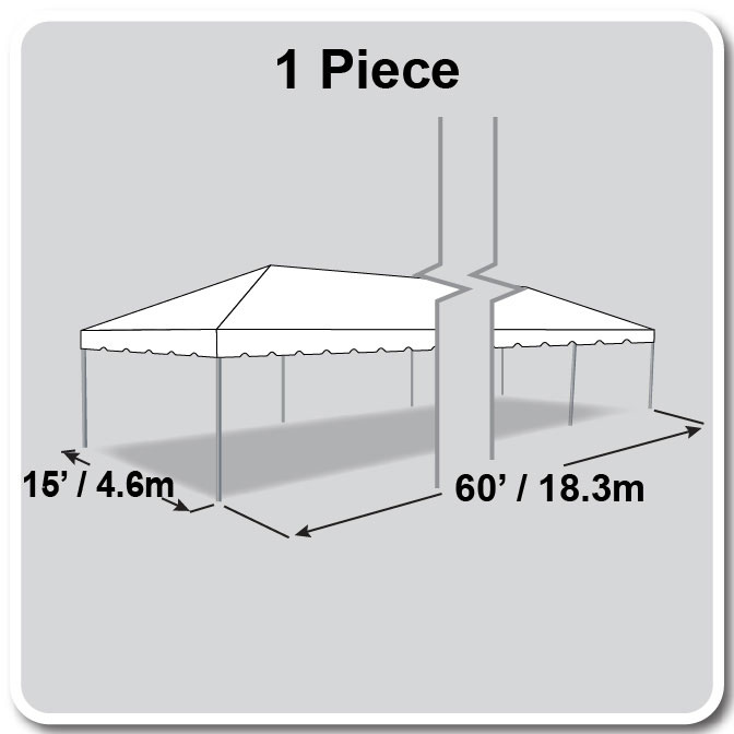 15\' x 60\' One Piece Classic Series Frame Tent