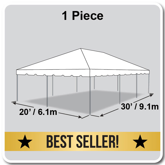 20 X 30 One Piece Classic Series Frame Tent