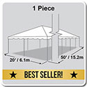 20' x 50' Classic Series Frame Tent, 1 Piece Tent Top, Complete