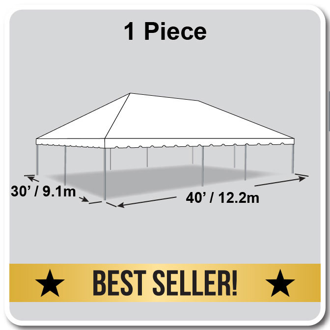 30 X 40 One Piece Classic Series Frame Tent