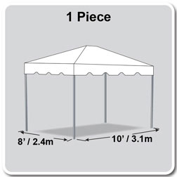 8' x 10' Classic Series Frame Tent, 1 Piece Tent Top, Complete