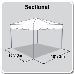10' x 10' Classic Series Frame Tent, Sectional Tent Top, Complete