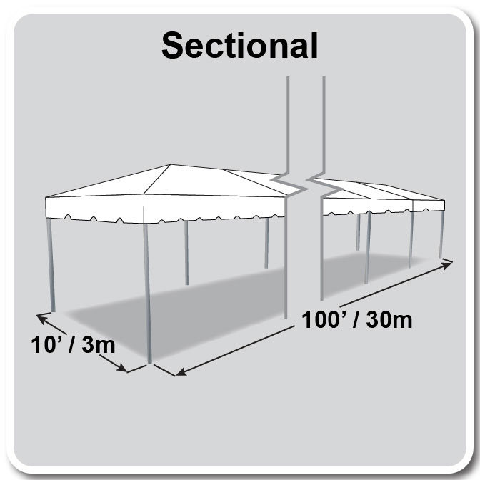 10 X 100 Sectional Classic Series Frame Tent