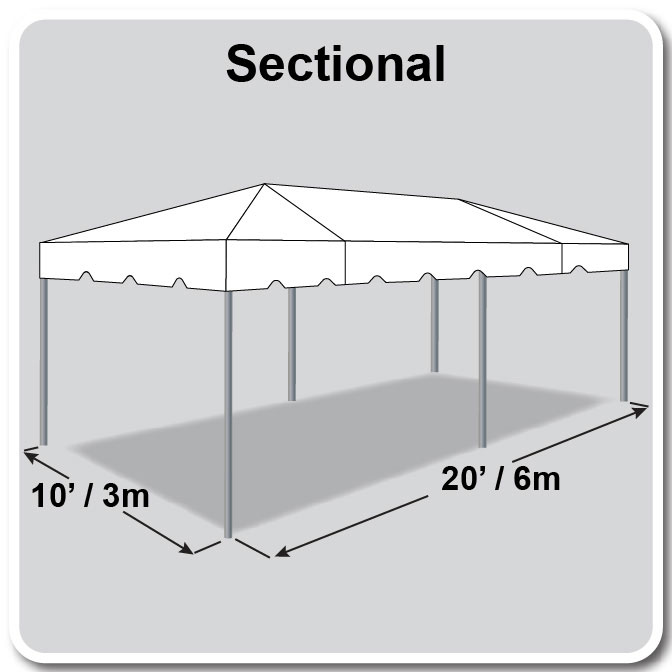10\' x 20\' Sectional Classic Series Frame Tent
