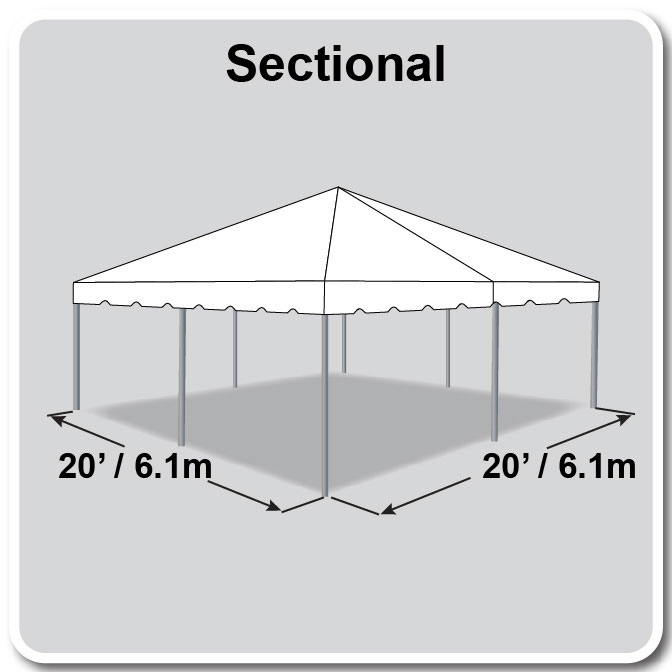 20 X 20 Sectional Classic Series Frame Tent