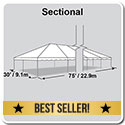 30' x 75' Classic Series Frame Tent, Sectional Tent Top, Complete