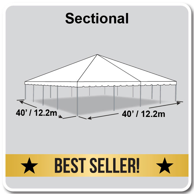 40\' by 40\' Sectional Classic Series Frame Tent