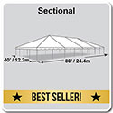40' x 80' Classic Series Frame Tent, Sectional Tent Top, Complete