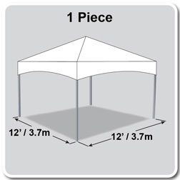 12' x 12' Master Series Frame Tent, 1 Piece Tent Top, Complete