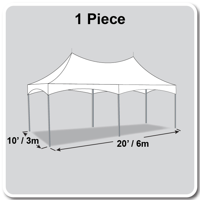 10 x 20 pinnacle series high peak frame tent cross cable marquee complete