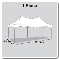 10' x 20' Pinnacle Series High Peak Frame Tent / Cross Cable Marquee, Complete