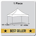 15' x 15' Pinnacle Series High Peak Frame Tent / Cross Cable Marquee, Complete