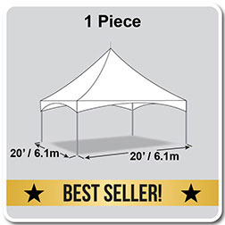 20' x 20' Pinnacle Series High Peak Frame Tent / Cross Cable Marquee, Complete