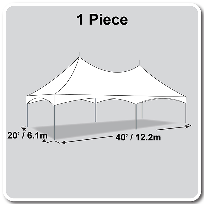 20 X 40 Pinnacle Series High Peak Frame Tent