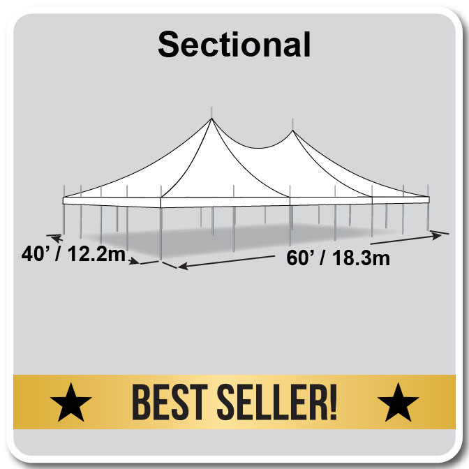 premiere i series high peak pole tent 40 x 60 wedding tent. Black Bedroom Furniture Sets. Home Design Ideas