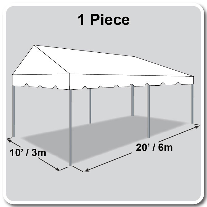 10 x 20 Classic Series Gable Frame Tent