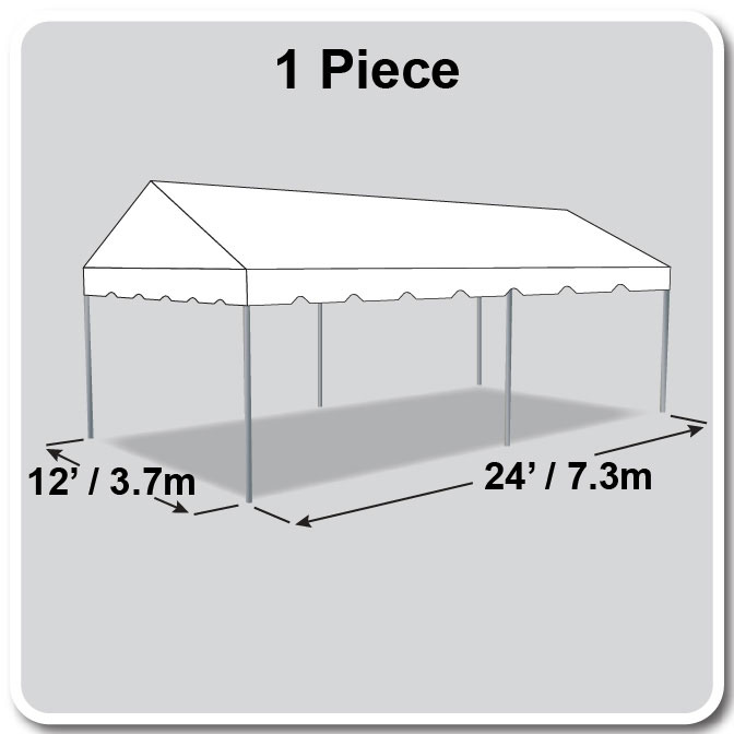 12 x 24 classic series gable frame tent. Black Bedroom Furniture Sets. Home Design Ideas