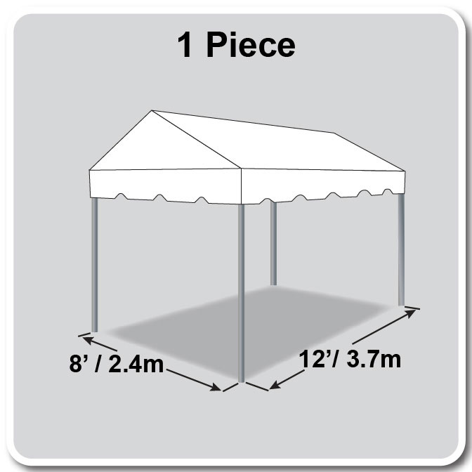 8 x 12 Classic Series Gable Frame Tent