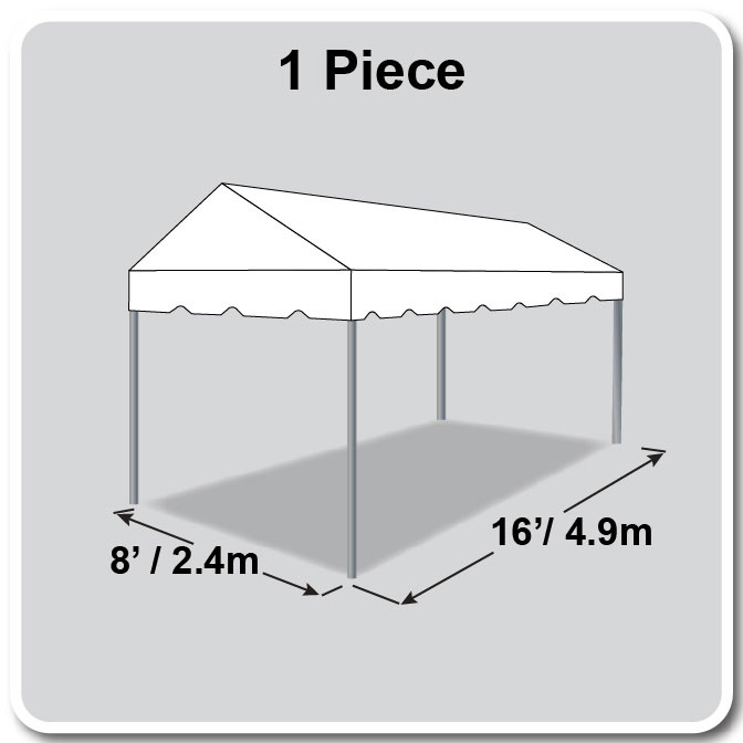 8 x 16 Classic Series Gable Frame Tent
