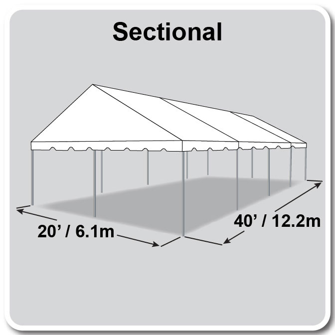 20 x 40 Classic Series Gable Frame Tent
