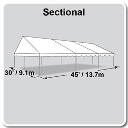30 x 45 classic series gable frame tent. Black Bedroom Furniture Sets. Home Design Ideas