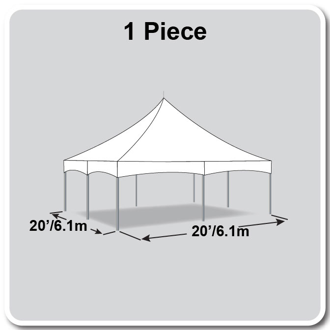 20 X 20 One Piece Master Series High Peak Frame Tent