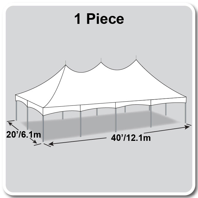 20\' x 40\' One Piece Master Series High Peak Frame Tents