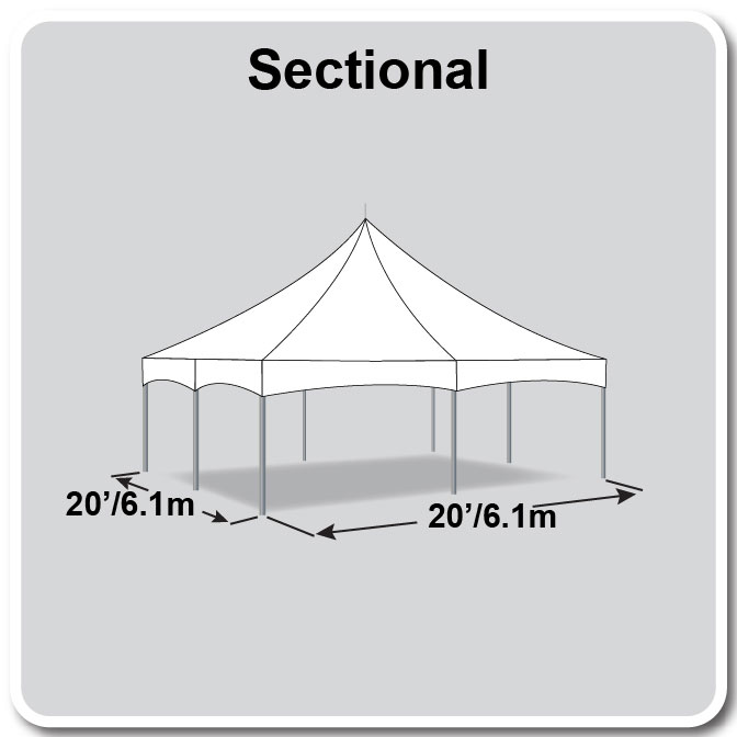 20\' x 20\' Sectional Master Series High Peak Frame Tent