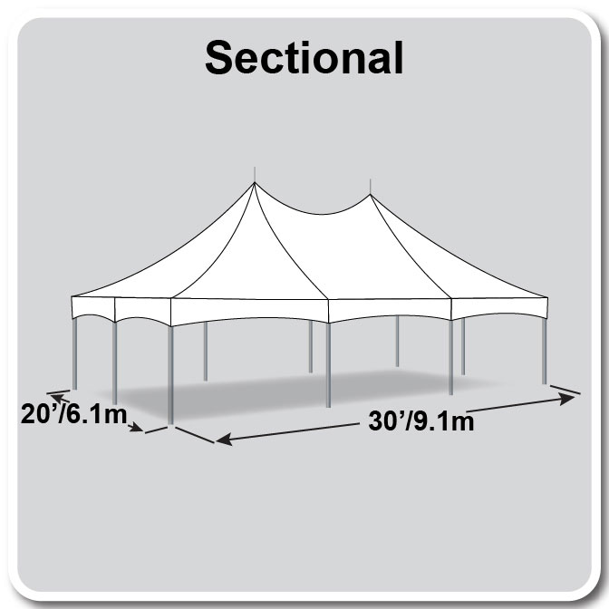 20\' x 30\' Sectional Master Series High Peak Frame Tent