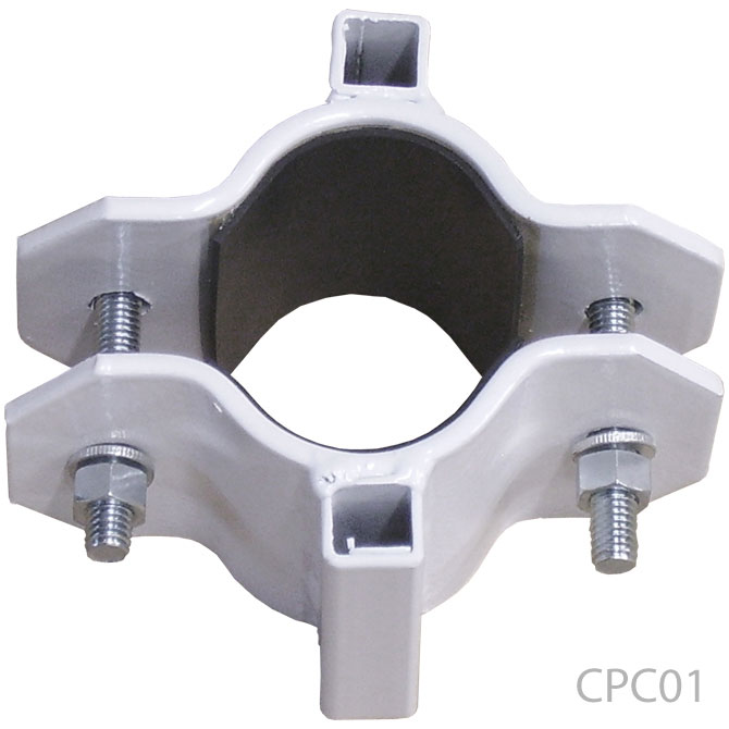 Clamp On Flag Pole Holder : Pole bracket clamps tent lighting decoration