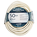 50' White Extension Cord 10/3