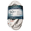 50' White Extension Cord 12/3