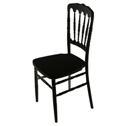 Black Fayette Napoleon Chair