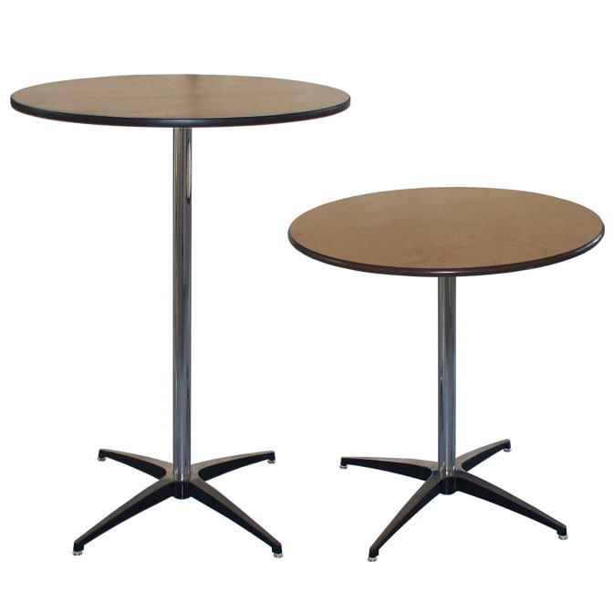 30 Round Pedestal Table Bar Diner Cocktail Tables